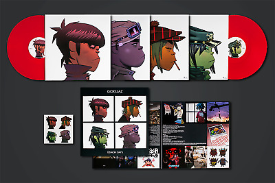 Gorillaz ‎– Demon Days VMP Club Edition Red Colored 2x Vinyl LP PRESS DEFECT
