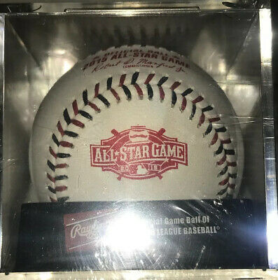 New Rawlings Official 2015 All Star Game Baseball Sealed In Cube Cincinnati Reds