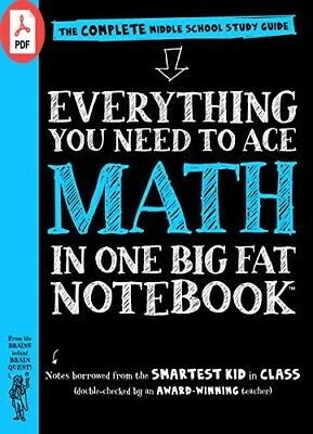 Everything You Need to Ace Math in One Big Fat Notebook The Complete Middle