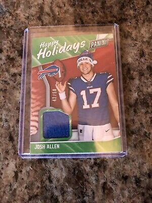 Josh Allen 2018 Panini Black Friday Happy Holidays Santa Hat Relic 50 RC Bills