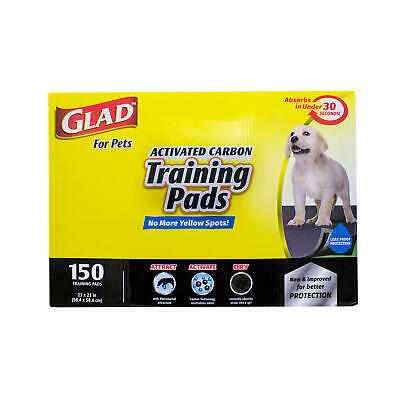 Glad for Pets Activated Carbon Training Pads For Dogs and Puppies 150 ct-