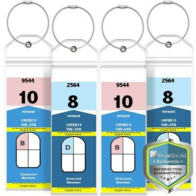 4x Luggage Tag Lanyard ID Holder Zip Seal for Royal Caribbean Celebrity Cruise