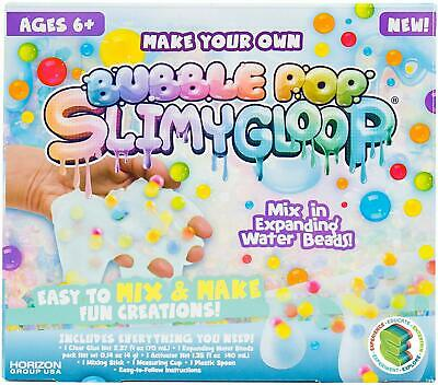SLIMYGLOOP Make Your Own Bubble Pop DIY Slime Kit by Horizon Group USA Mix - Cr