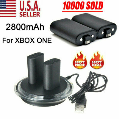 For XBOX ONE Controller Play Charging Cable - 2x Rechargeable Battery Pack
