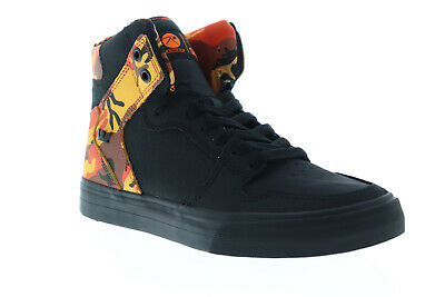Supra Vaider 08206-014-M Mens Black Nubuck Lace Up High Top Sneakers Shoes