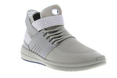 Supra Skytop V 08032-366-M Mens Gray Mid Top Lace Up Athletic Skate Shoes