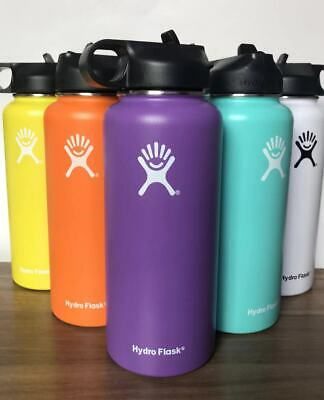 32OZ- Hydro Flask Water Bottle Stainless Steel - Vacuum Insulated with Straw Lid