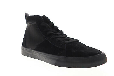 Supra Stacks Mid 05903-001-M Mens Black Suede Lace Up High Top Sneakers Shoes