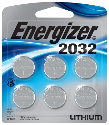 Energizer 2032BP-6 Coin Cell Battery 6 Pack Exp-032030