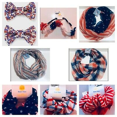 Fourth Of July Accessories Hair - Infinity Scarf Lot