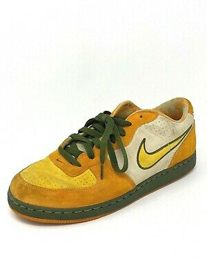 Nike Air Zoom Infiltrater Mens Size 10-5 Orange Yellow Green Suede Sneakers EUC