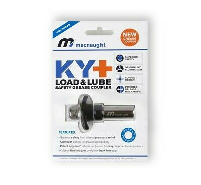 Macnaught KY- One-Handed Safety Grease Coupler Load-Lube Smallest Diameter Bore