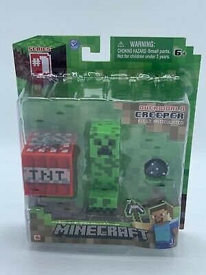Minecraft Core Creeper Action Figure Fully Articulated Age 6- TNT Series 1 2014