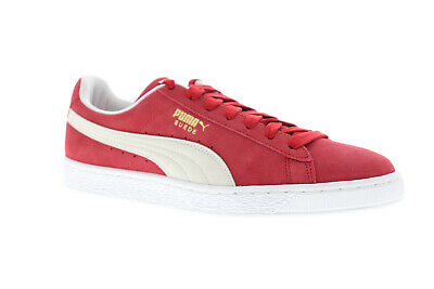 Puma Suede Classic- 35263405 Mens Red Lace Up Low Top Sneakers Shoes