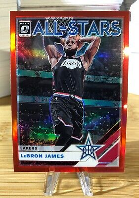 2019-20 Donruss Optic All Stars Red LEBRON JAMES 9499 Lakers