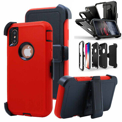 For iPhone 11 Pro Max12XRXS Max Phone Case With Holster Clip Kickstand Cover