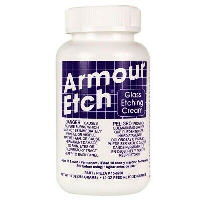 Armour Etch Glass Etching Cream - 10 oz-  - 10 Oz-