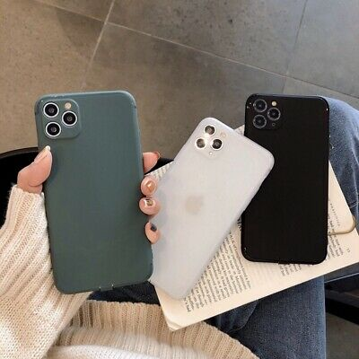 Full Protective Case For iphone 11 Pro Max Slim Thin Soft Silicone Matte Cover