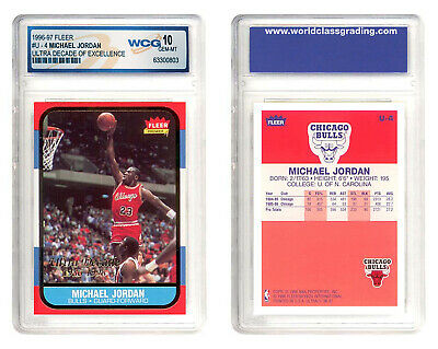MICHAEL JORDAN 1996-97 Fleer ULTRA DECADE Excellence Rookie Card U4 GEM MINT 10