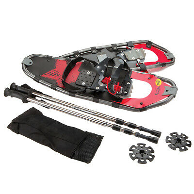28 Snowshoes Aluminum w Carry Bag and Trekking Poles for Men and Women