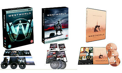 Westworld Complete Seasons 1-3 DVD The Maze - The Door - Free Will is Not Free