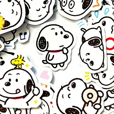40 Adorable Snoopy Cute Stickers Journal Diary Stickers Scrapbooking USA