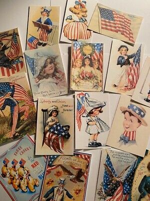 Die CutsGift Tags Fourth Of July-Vintage Style-Card making-Journal Supply 16 pc
