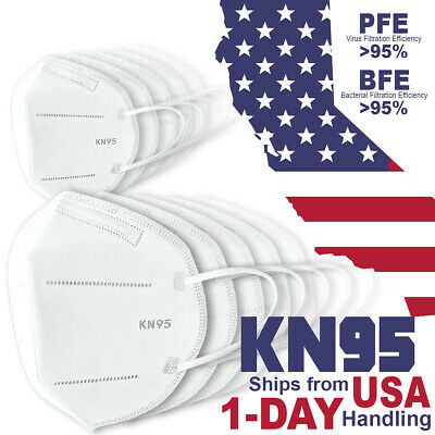 10x KN95 PM 2-5 Protective 5 Layer Disposable Respirator Safety Face Mask Cover
