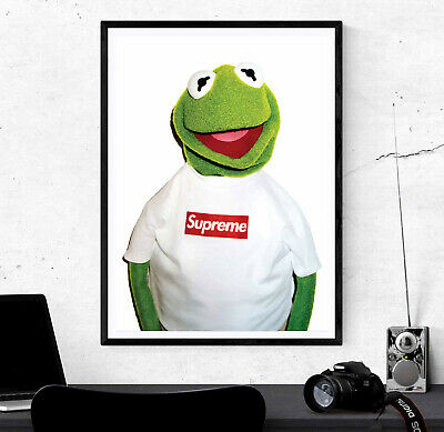 Supreme Kermit Poster Print - Wall Art Decor - Various Sizes Charity