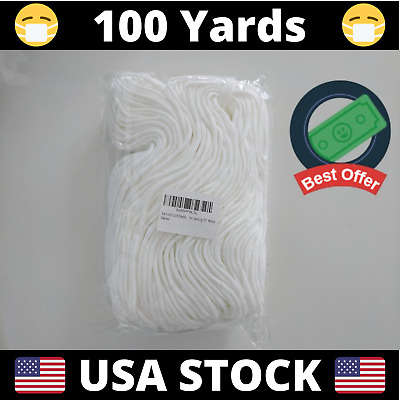 100 Yards Round Elastic Cord Band 3mm 18  DIY Face Masks  USA Stock