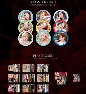 Twice More-More Official Photocards - Coaster Cards Select Member US Seller