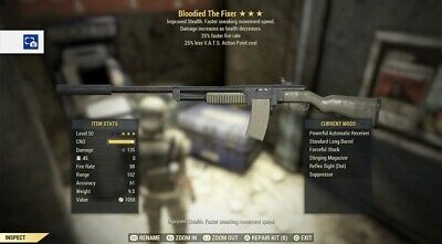 Fallout 76 PS4 Bloodied Fixer Bundle God Rolls