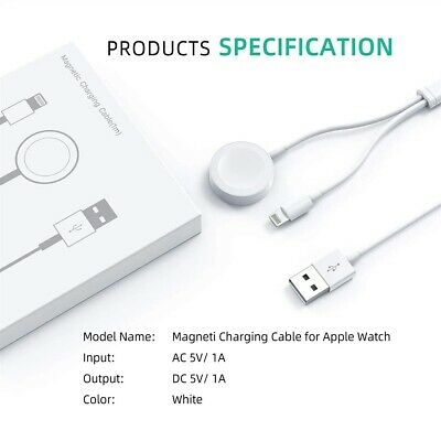 For Apple Watch iWatch 654321 iPhone 8 X XS Magnetic Charger 2in1 USB Cable