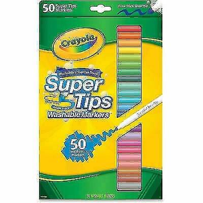 Crayola Washable Super Tips Markers Assorted 50
