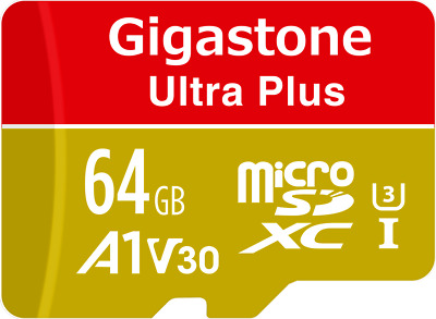 Gigastone 64GB Micro SD Memory Card V30 Nintendo Switch Compatible A1 Run App