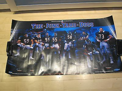 The Junk Yard Dogs 1986 Classic Poster Original  Chicago Bears