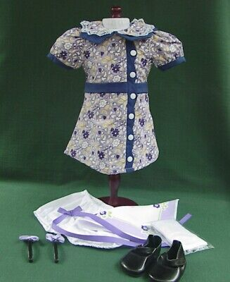 RUTHIE AMERICAN GIRL KIT MEET Outfit REPRO DRESS SHOES SOCKS BLOOMERS HANKIE -