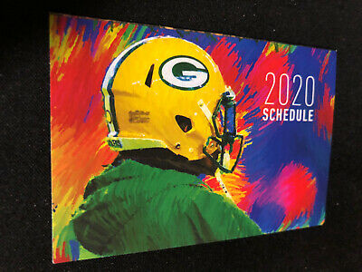 2020 Green Bay Packers Football Pocket Schedule Diggers Union