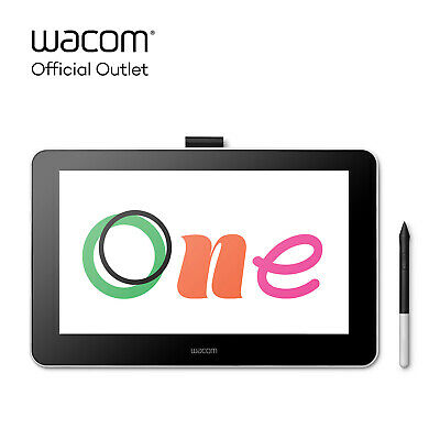 Used Wacom One Digital Drawing Tablet with Screen 13-3 inch Creative Graphic-