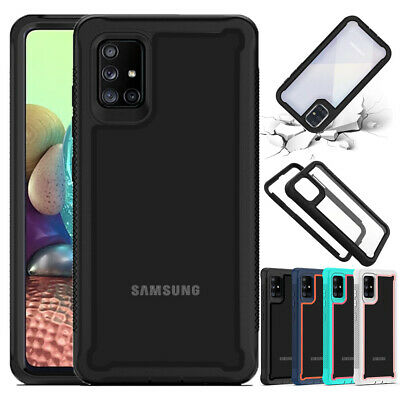 For Samsung Galaxy A51 A71 4G 5G Case Shockproof Hybrid Armor Clear Phone Cover