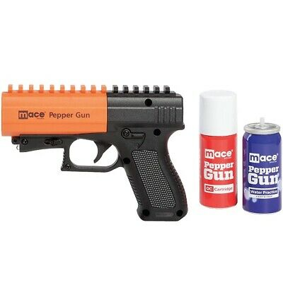 Mace 80406 Black - Orange Pepper Gun 2-0 w7 Bursts - 20 Range