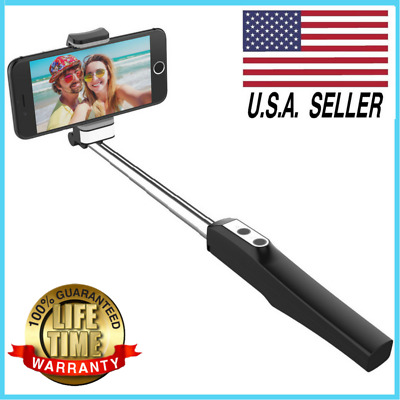 Bluetooth Selfie Stick  Remote with LED Light - Mirror for iPhone Samsung GoPro