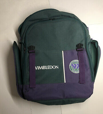 Championships Wimbledon Backpack Flying W Logo Vintage Tennis Memorabilia Bag