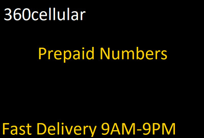 Prepaid Phone Numbers To  For PORT ATT METRO NOT FOR Sprint BOOST TMOBILE