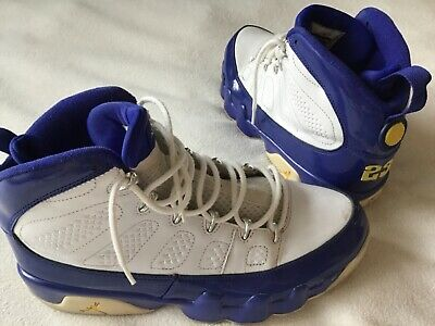 Nike Air Jordan Retro 9 IX WhiteBlueYellow 302370-121Size 9-5