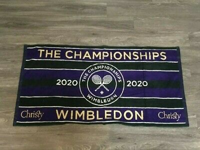 WIMBLEDON THE CHAMPIONSHIP OFFICIAL MENS TENNIS TOWEL 2020 NWT  IN COTTON BAG