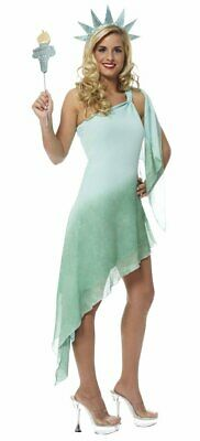 Patriotic Fourth Of July Statue Of Liberty ADULT MISS LIBERTY COSTUME
