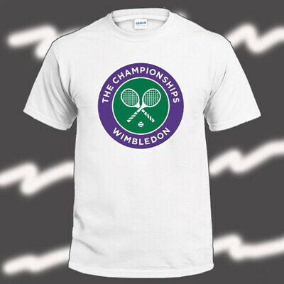Wimbledon Tennis Grand Slam Logo Mens White T-Shirt Size S-3XL