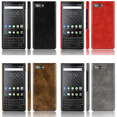 PU Leather Case Back Cover for BlackBerry KEY2 LE GSM Unlocked Smartphone 64GB