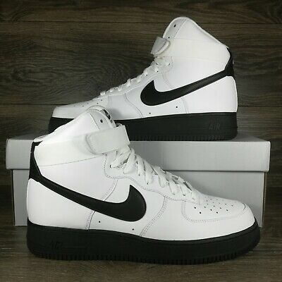 Nike Air Force 1 High 07 White Black Midsole Sneakers CK7794-101 Mens Size